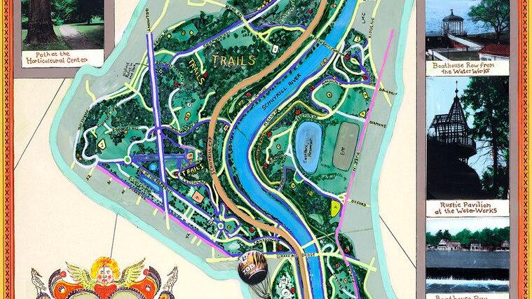 Fairmount Park Handmade Pocket Map