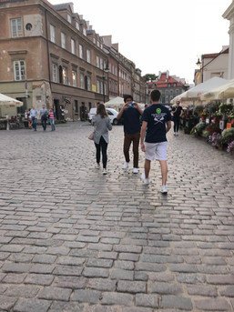 Niki Guiding The Boys through the Old Town