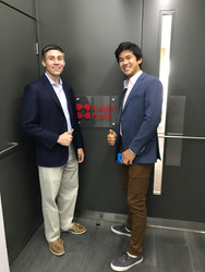 Nick and Nick Posing outside the Knight Frank Office