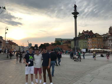 The Boys in Warsaw's Old Town
