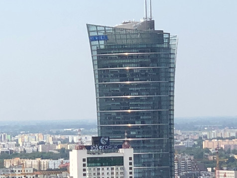 The Spire Building, where the team met with JLL