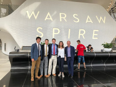 The Team with Niki and Mr. Klodowski in the Spire Building