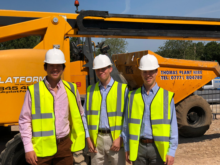 The Team Preparing before Touring the Construction Site