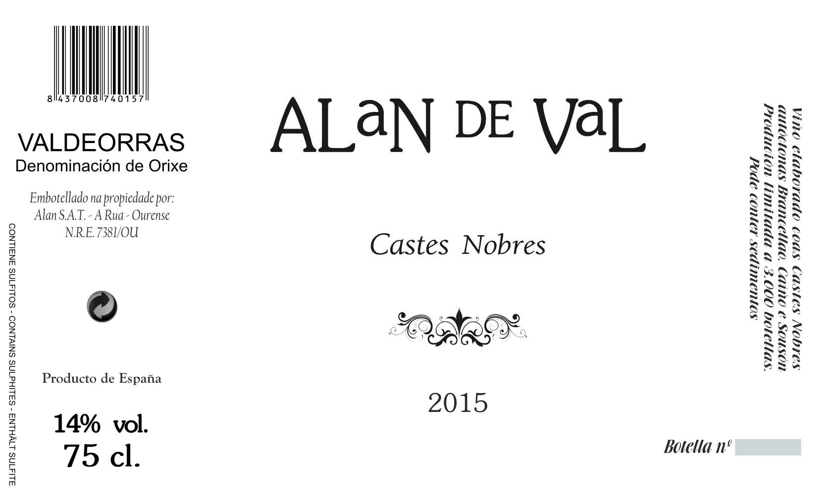 CASTES NOBRES 2015