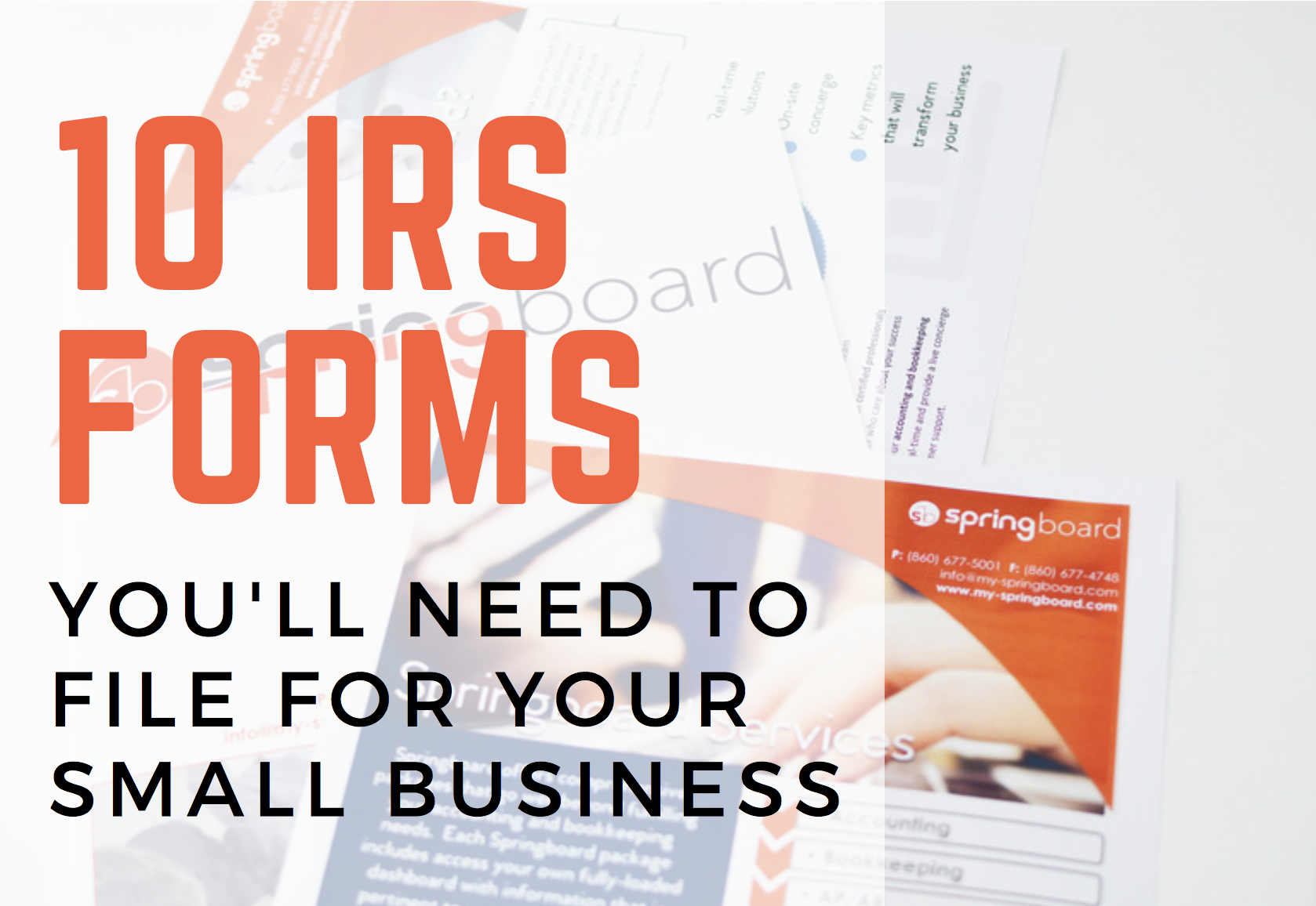 10 IRS Forms You\'ll Need to File for Your Small Business | Boost ...