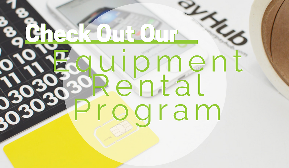 equipment rental program terminal payhub