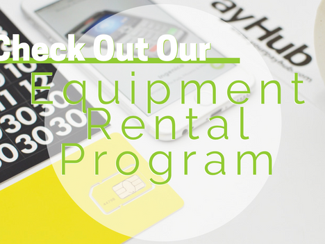 Check Out Our Equipment Rental Program!