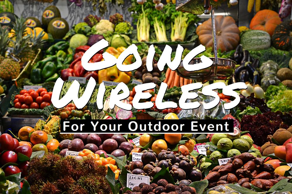 wireless terminals outdoor event