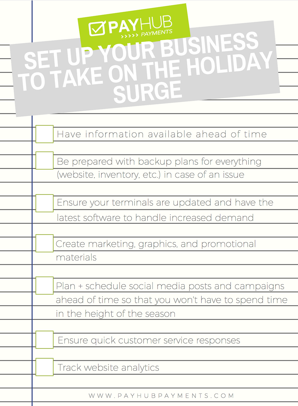 prepare your business for the holidays checklist