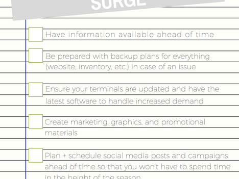 Set Up Your Business to Take on the Holiday Surge - Checklist!