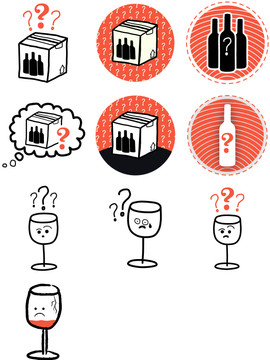 """""""wine delivery status unknown"""" (icons)"""