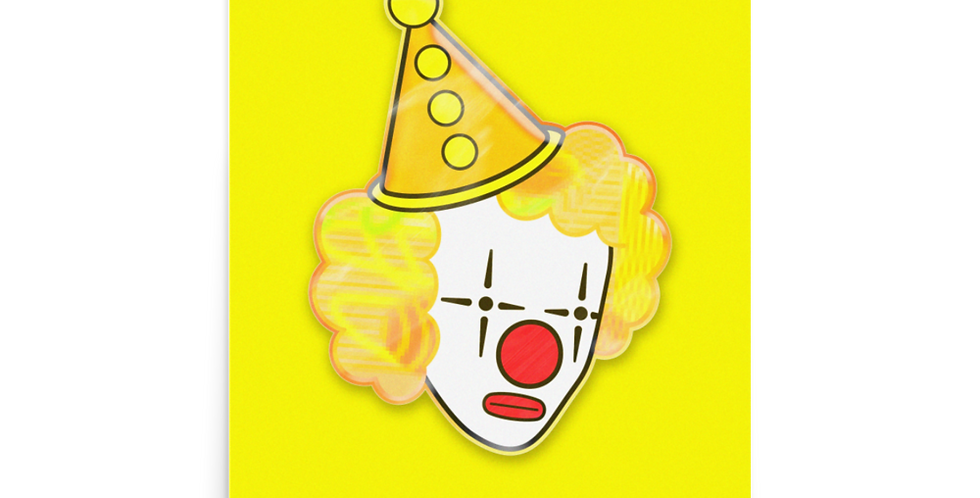 'Yellow Clown' Poster