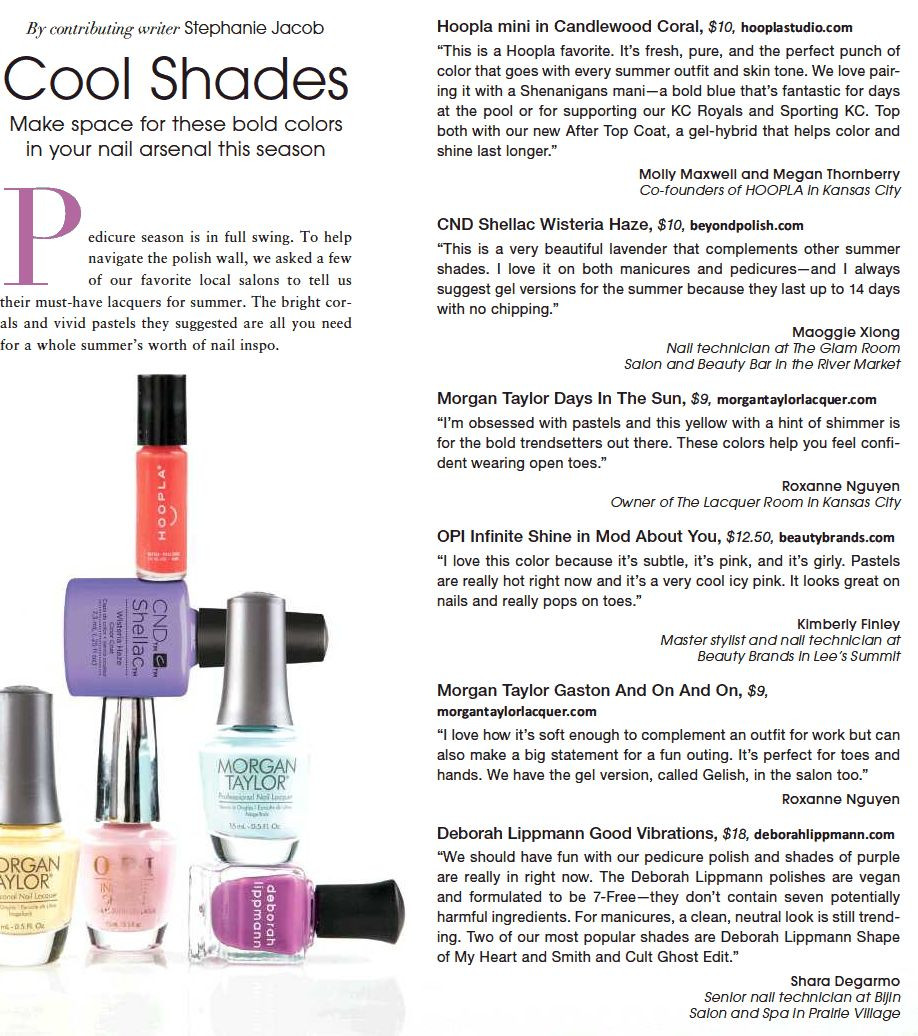Read about a HOOPLA favorite, Candlewood Coral mini polish, in KC Spaces Magazine.