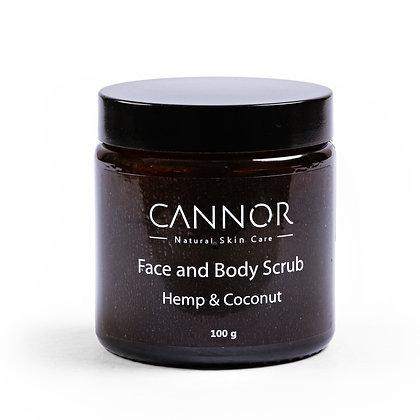 CANNOR Hemp & Coconut Face & Body Scrub