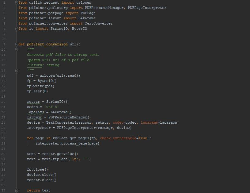 PDF parsing in Python