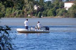 partie de pêche en bateau sure le Ta