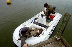 partie de pêche en bateau