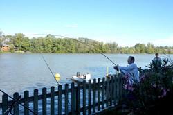 départ pêche au gite Les Carnassiers