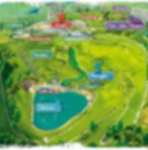 Plan parc de loisirs Cap Découverte