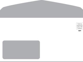Tehnični podatki pri tisku kuvert