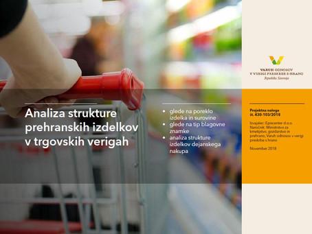 Analiza strukture prehranskih izdelkov v trgovskih verigah