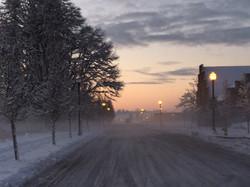 The village in snow