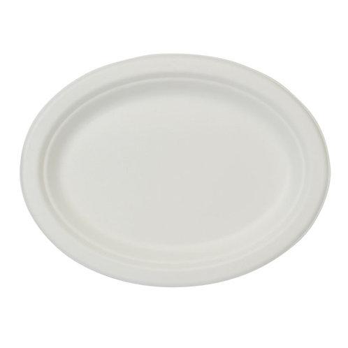 50 Piatti ovali in polpa di cellulosa32x25 cm