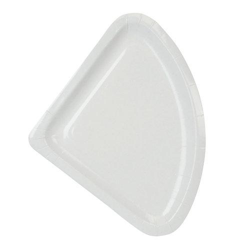 100 Piatti triangolari 1/4 in polpa di cellulosa