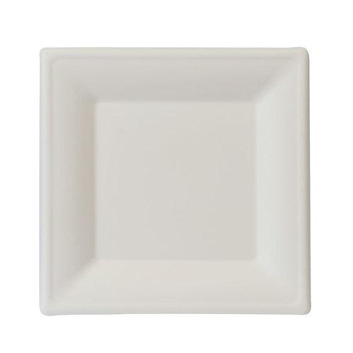 50 Piatti quadrati in polpa di cellulosa 20x20x1,5 cm