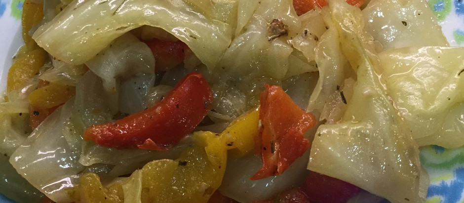 Weight loss recipe: Cabbage, Carrots, Peppers, herbs and spices!