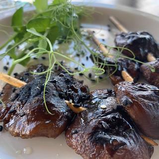 "Grilled shiitake mushrooms ""yakitori sty"