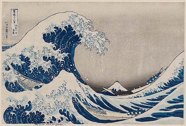 Old japanese art, wave, Japan