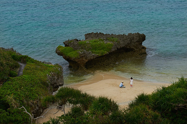Okinawa, Japan, cove, beach