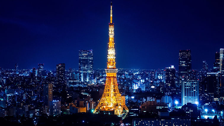 Tokyo Tower, cityskype, Tokyo, Japan