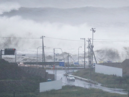 Typhoon Lionrock hits Japan