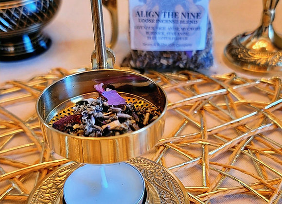 Brass Resin and Incense Burner