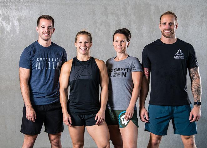 CrossFit Bilzen Team Filip Hellings, Nathalie Geurts, Veronika Truyers, Pieter Vanbussel