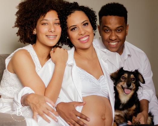 Daiane e sua família