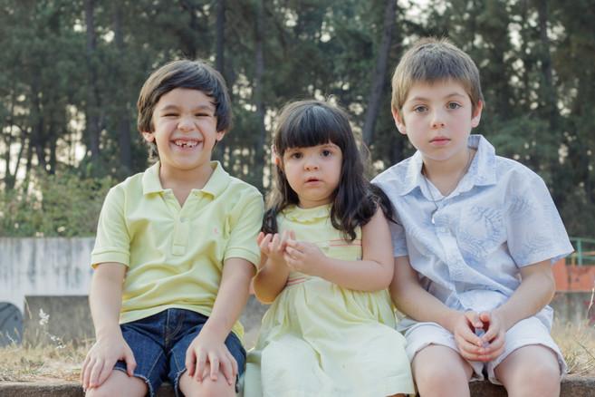 Irmãos Felipe, Letícia e Pedro