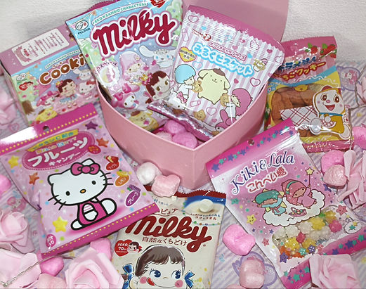 japanese box sweets candy sanrio hello kitty cute stationery pink