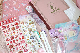 japanese cute stationery cupcake stickers notebook