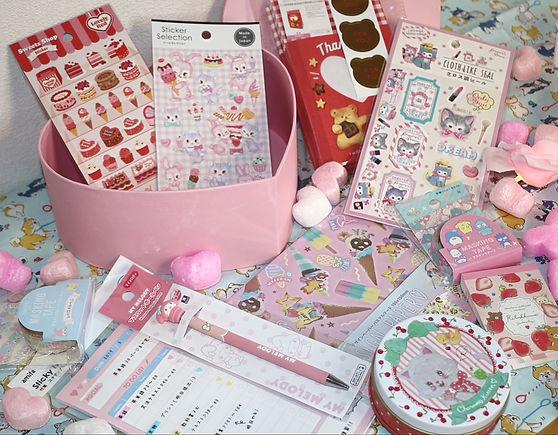 japanese stationery buy online kawaii cute subscription box pink sanrio