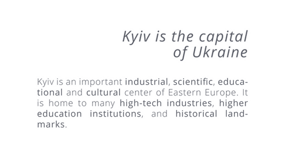 Kyiv is an important industrial, scienti
