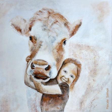 1 2018 Empathie 1 enfant vache signé.jpg
