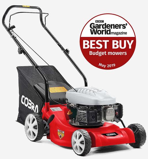 "Cobra M41C 16"" petrol 4 stroke lawn mower with Cobra engine"