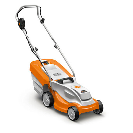 Stihl RMA235P mower, charger and 2 batteries