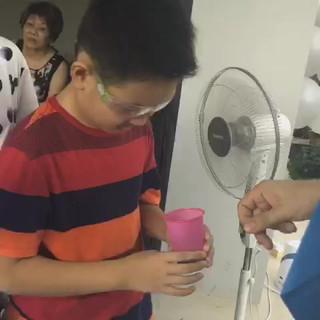 Liquid nitrogen birthday party