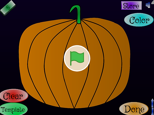 Make a pumpkin carving game