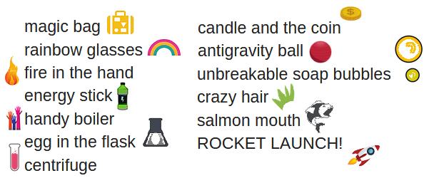 Magic science experiments
