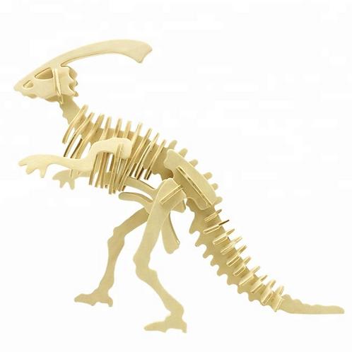 Wooden Parasaurolophus 3D puzzle